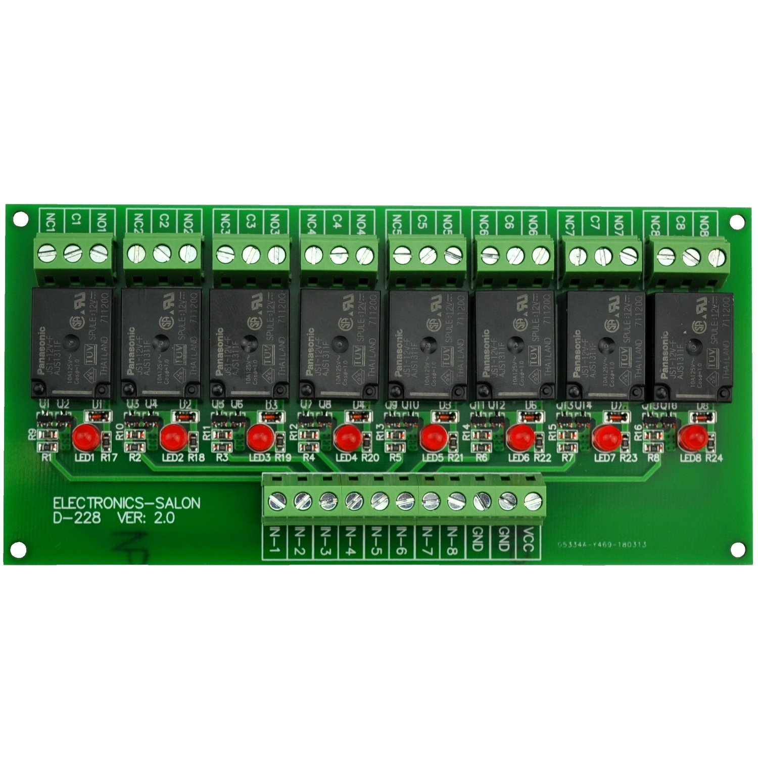 12v ac//dc Handy little Relay board ideal for security Systems