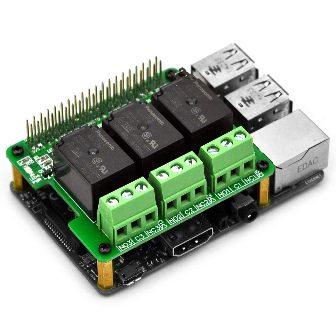 Electronics-Salon RPi Power Relay Board Expansion Module, for Raspberry Pi  A+ B+ 2B 3B
