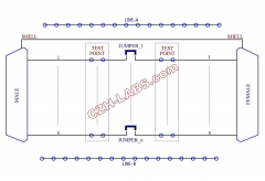 CZH-LABS D'sub DB9 Diagnostic Test Breakout Board, DSUB DB9 Connector Male  to Female