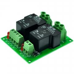 CZH-Labs 24V Passive 2 SPST-NO 30Amp Power Relay Module Board