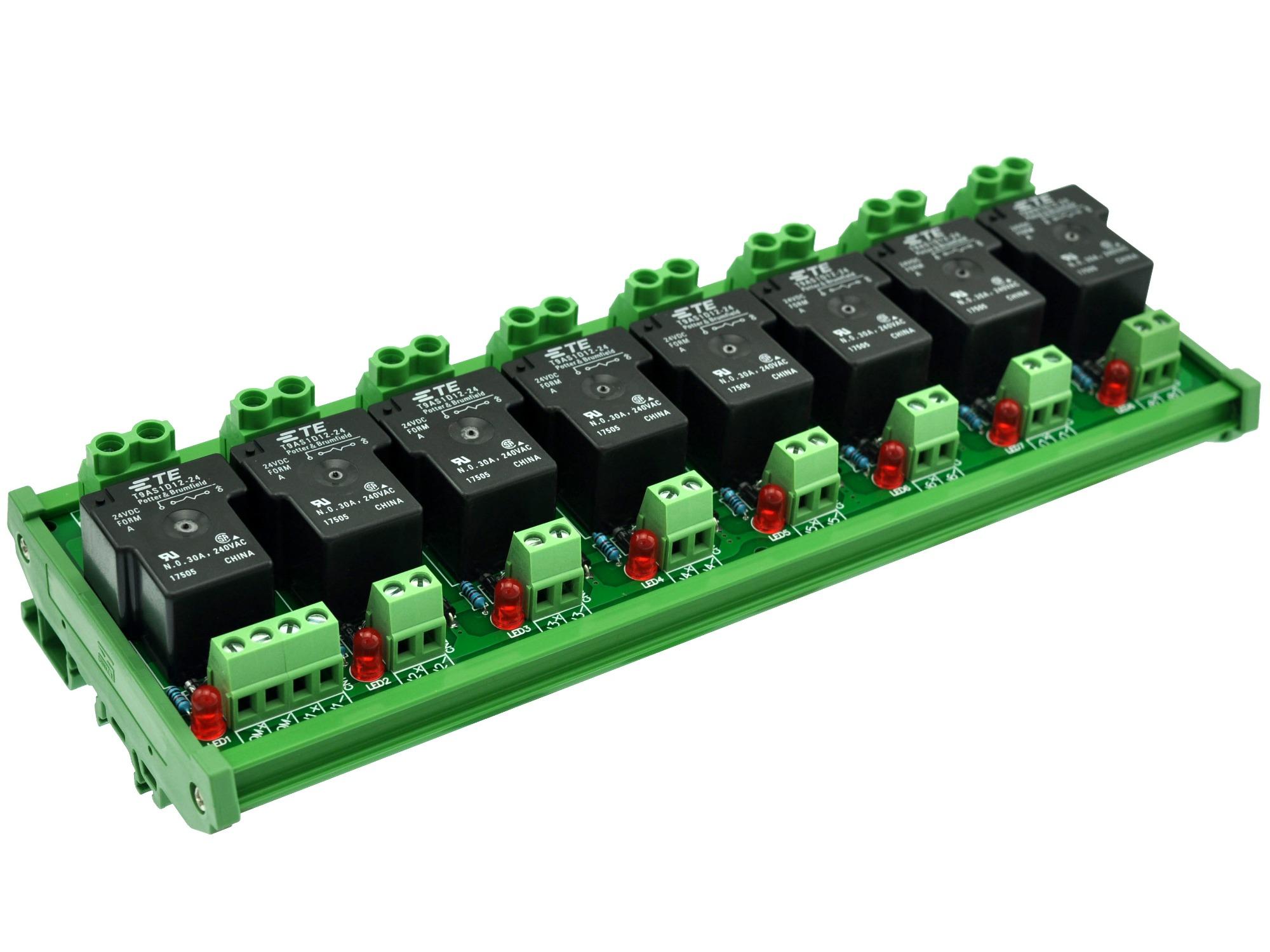 4 canaux sortie 100~240 V AC. . CZH-LABS Module de relais statique SSR /à montage sur rail DIN 8 A 4~32 V DC